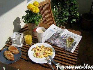 Aufstiegs Frühstück